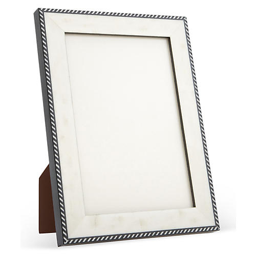 Mother-of-Pearl Frame, 5x7, White