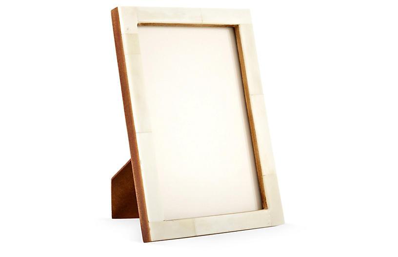 Horn Frame, 5x7, Cream