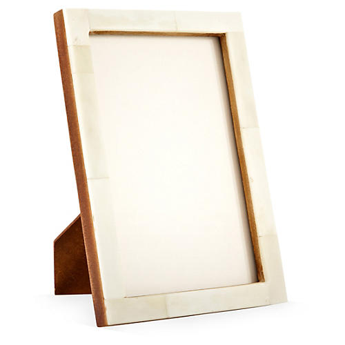 4x6 Horn Frame, Cream