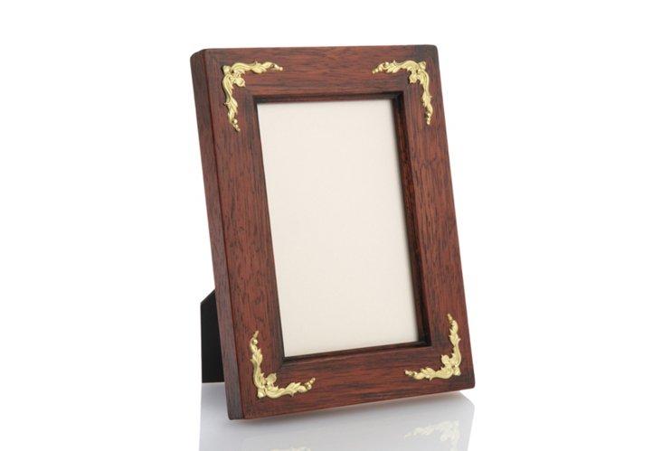 Frame w/ Gold Inlays, 8x10, Walnut
