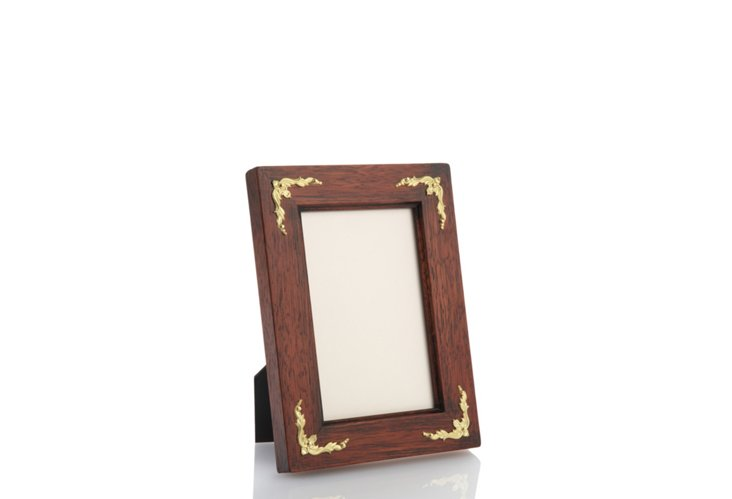 Frame w/ Gold Inlays, 4x6, Walnut