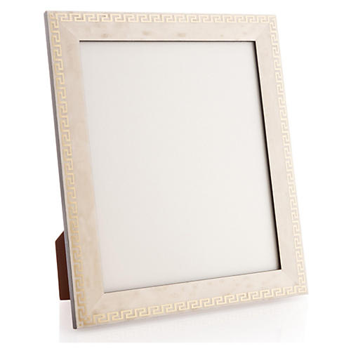 Greek Key Frame, 8x10, White