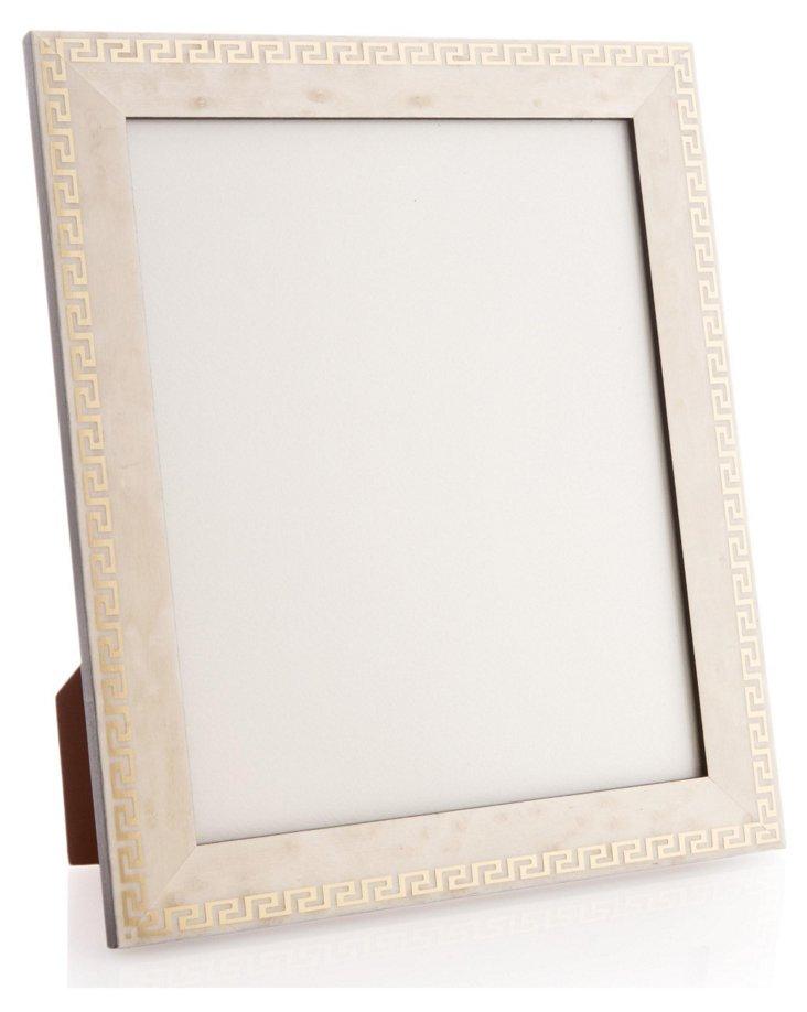 Greek Key Frame, 8x10, White