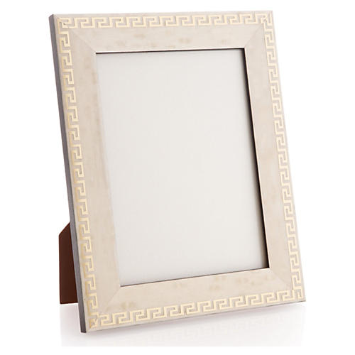 Greek Key Frame, 5x7, White