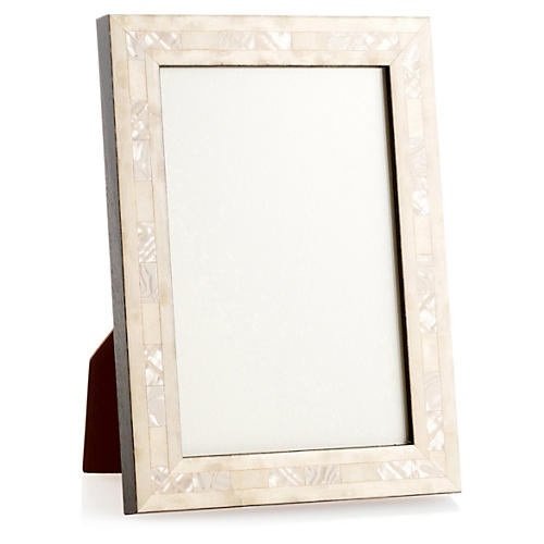 Opalescent Wedding Frame, 5x7, Ivory