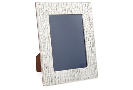 Sterling-Silver Crocodile Frame, 8x10