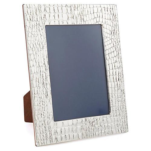 Sterling-Silver Crocodile Frame, 5x7