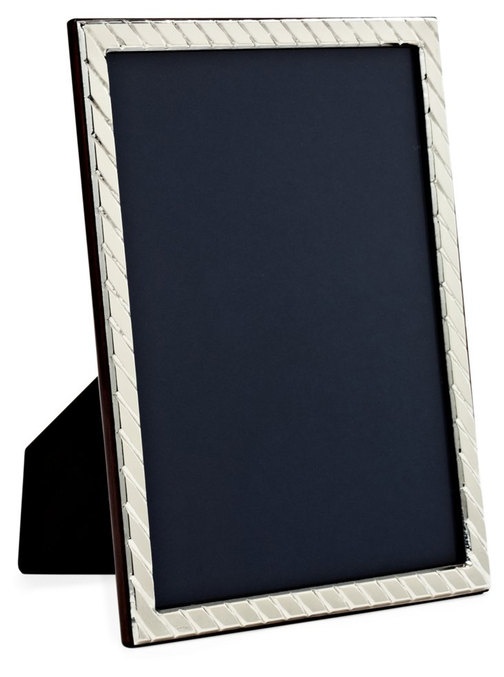 Sterling-Silver Diagonal Frame, 8x10