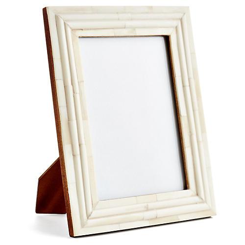 Raised-Interior Frame, 5x7, Ivory
