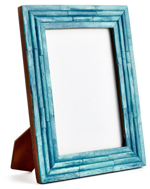 Raised Bone Frame, 4x6, Turquoise
