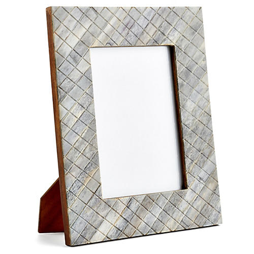 Darjeeling Carved Frame, 5x7, Gray
