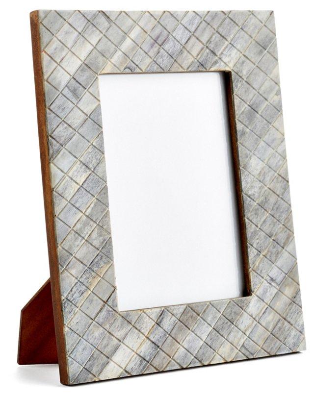 Darjeeling Carved Frame, 4x6, Gray