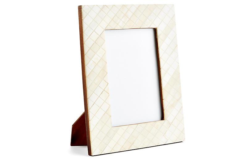 Darjeeling Carved Frame, 5x7, Ivory
