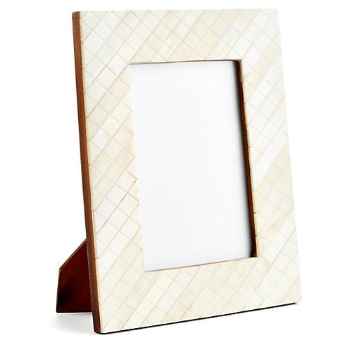 Darjeeling Carved Frame, 4x6, Ivory