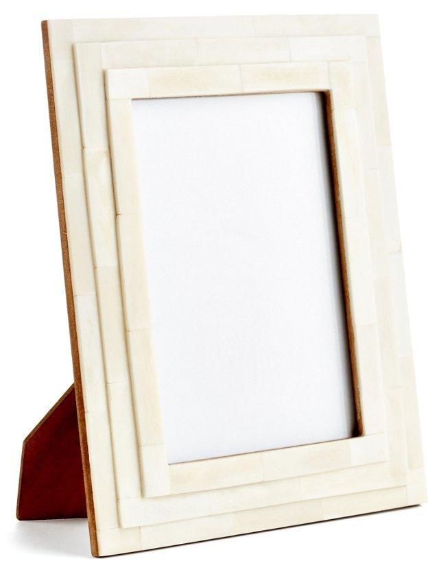 Convex Steps Frame, 5x7, Ivory