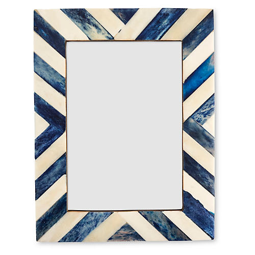 Chevron Frame, 4x6, Blue
