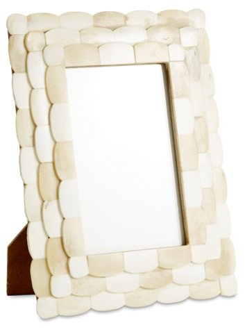 Scalloped Bone Frame, 4x6, Ivory - Picture Frames - Home Accents ...