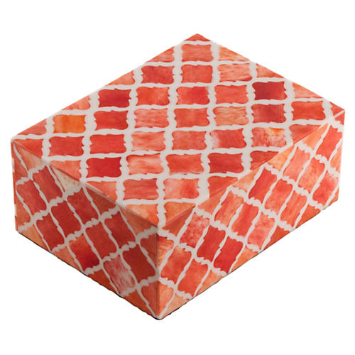 "6"" Moroccan Tile, Coral"
