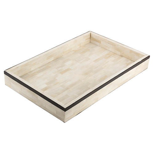 Single-Stripe Tray, Black