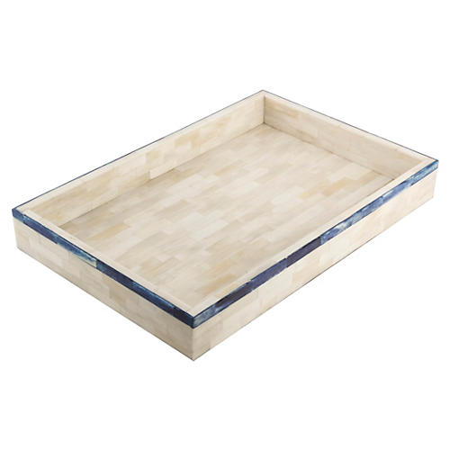 Single-Stripe Tray, Blue
