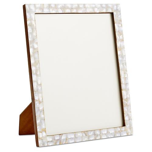 Mosaic Frame, White