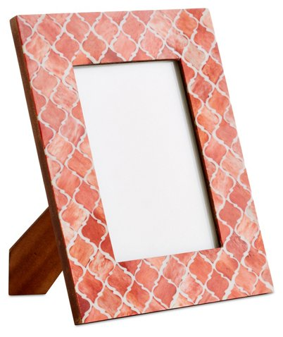 Moroccan Tile Frame, Coral - Picture Frames - Home Accents - Decor ...