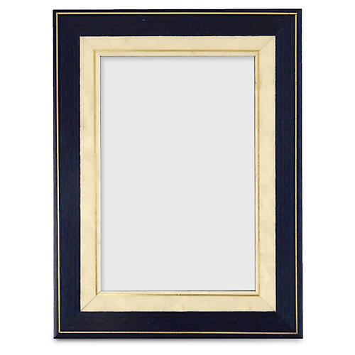 Marquetry Frame w/ Gold Trim, Black