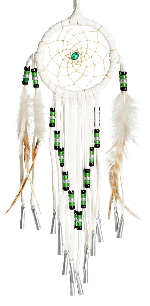 Large White Dream Catcher, Emerald
