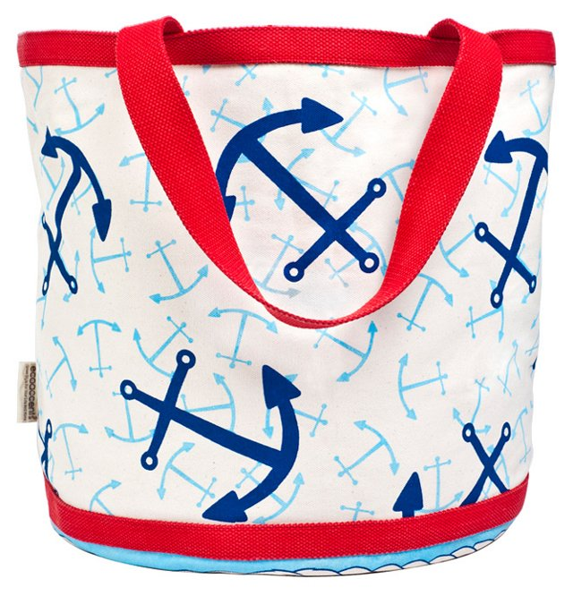 Large Anchor Bag, Blue/Red