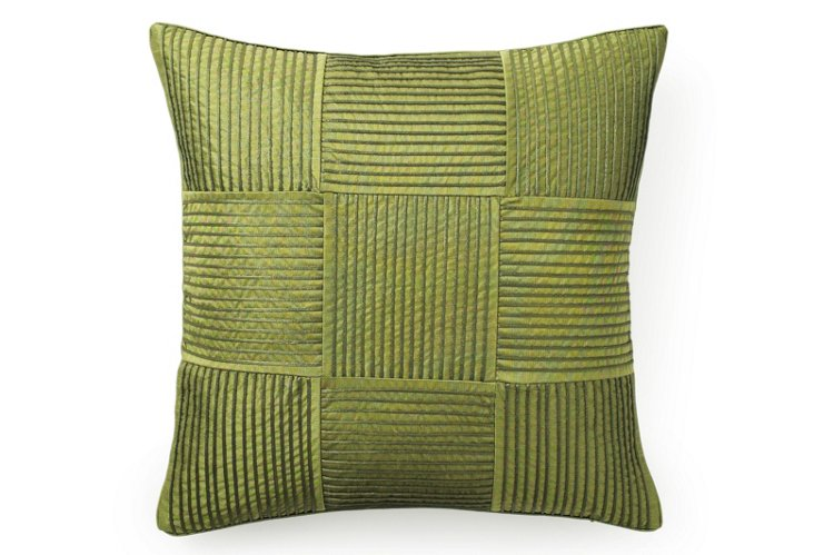 Squares 20x20 Pillow, Lime