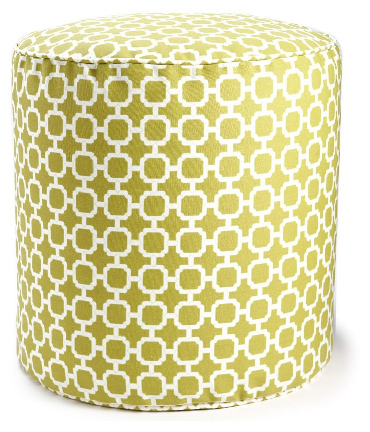 Hockley Outdoor Pouf, Pear