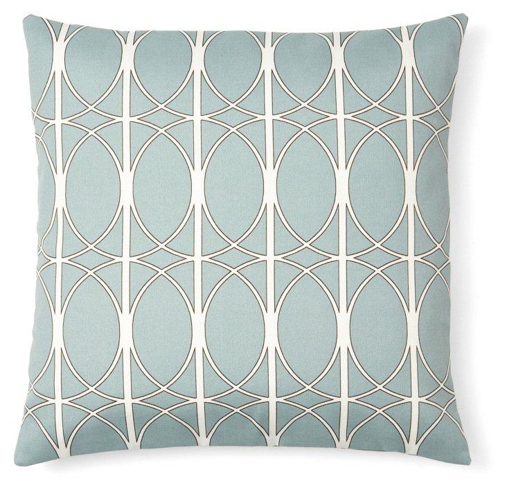 Max 20x20 Outdoor Pillow, Blue