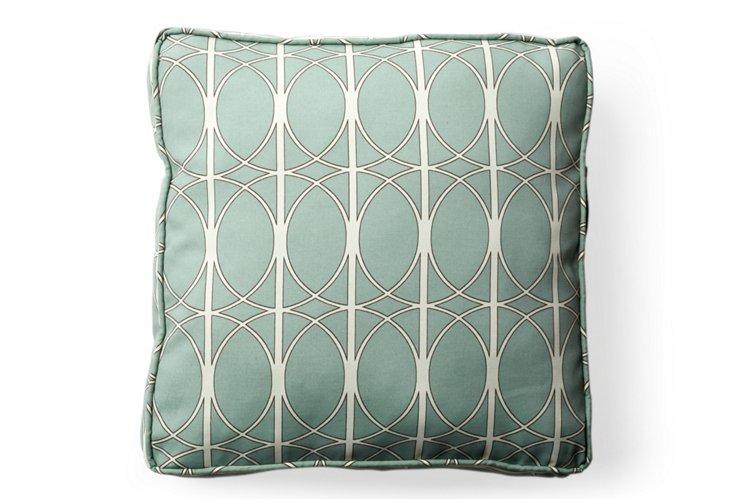 Maxfield Outdoor Floor Pillow, Surf