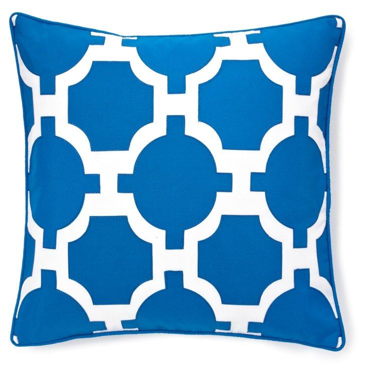 Link 18x18 Outdoor Pillow, Royal Blue