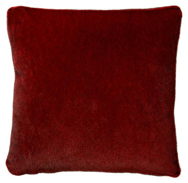 Sable 18x18 Pillow, Merlot
