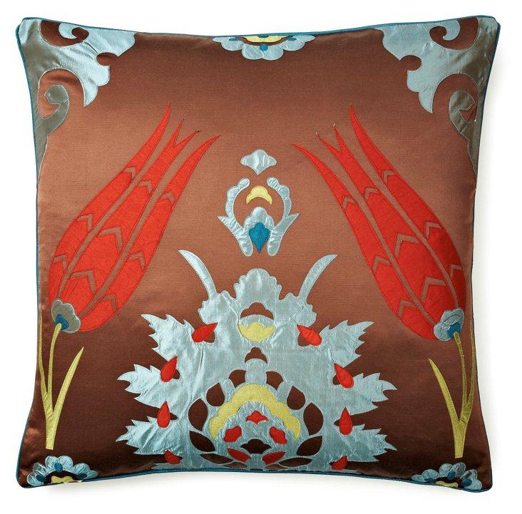 S/2 Moroccan 26x26 Pillows, Brown