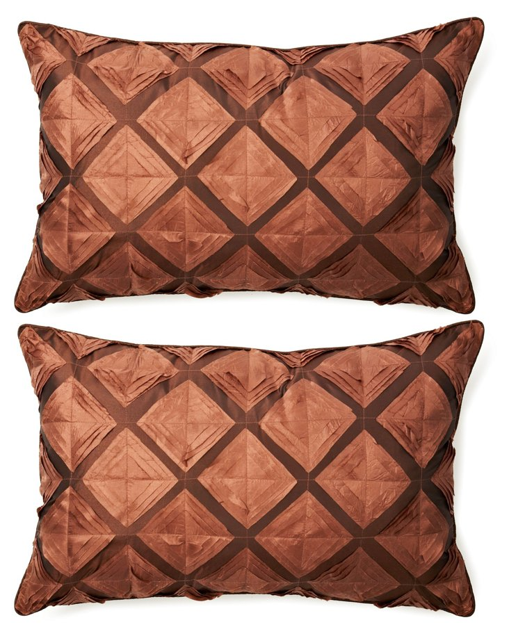 Diamond Shimmer 14x20 Pillow, Copper
