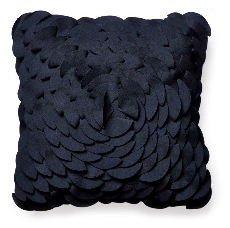 Peony 16x16 Pillow, Navy