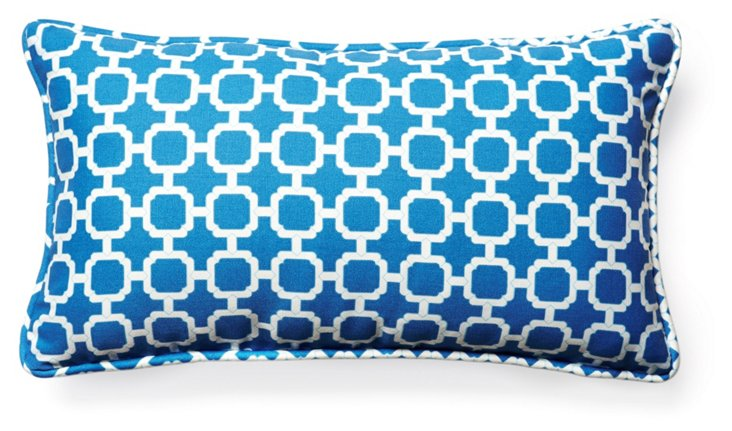 Holly 11x20 Outdoor Pillow, Blue