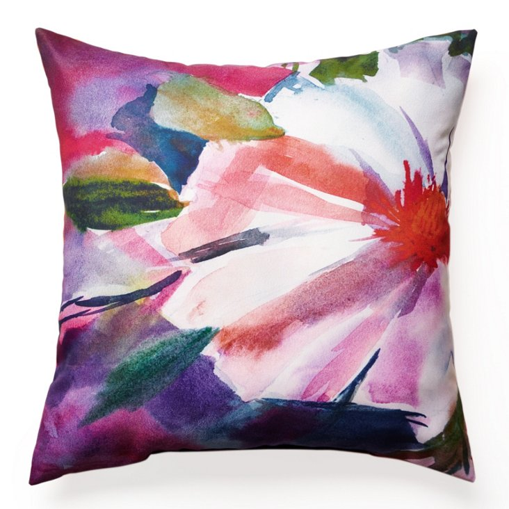 Floral 18x18 Outdoor Pillow, Multi