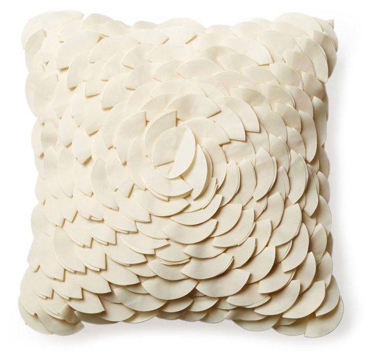 Peony 16x16 Pillow, Cream
