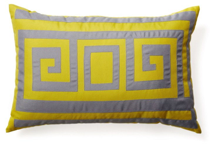 Key 12x18 Outdoor Pillow, Citron