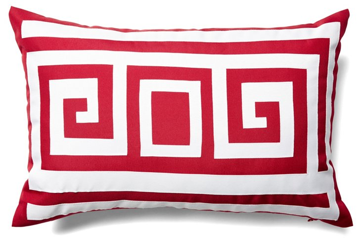 Key 12x18 Outdoor Pillow, Red