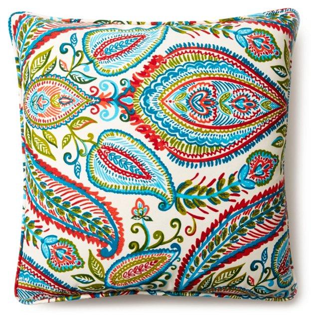 Paisley 20x20 Outdoor Pillow, Multi