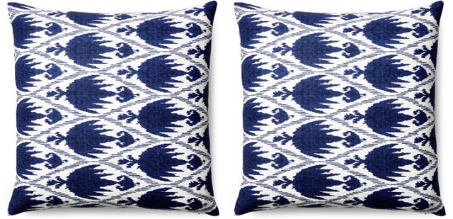 S/2 Casa 20x20 Cotton Pillows, Navy