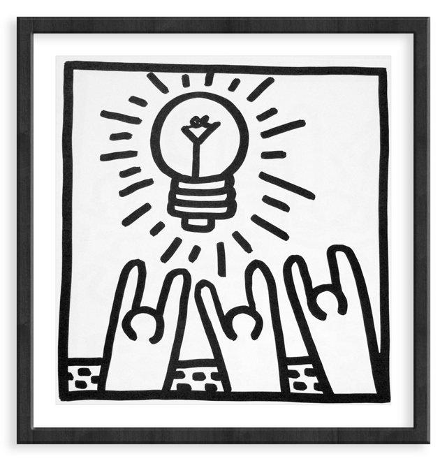 Keith Haring, Light Bulb, 1982