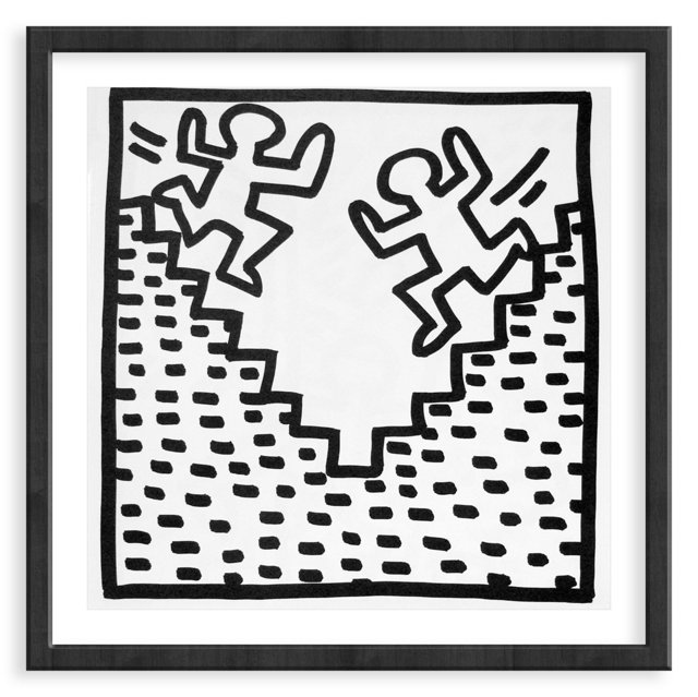 Keith Haring, Running Down Stairs, 1982
