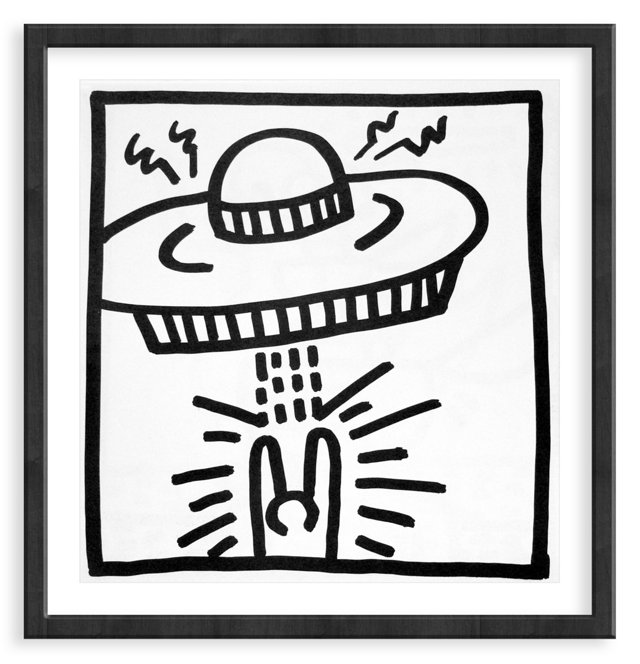 Keith Haring, Single Saucer Attack, 1982
