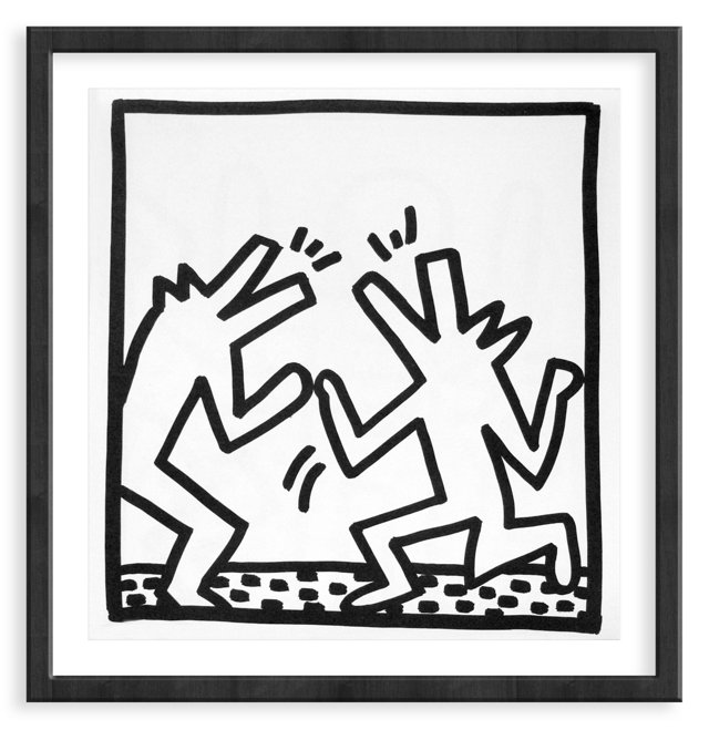 Keith Haring, Two Dogs, 1982