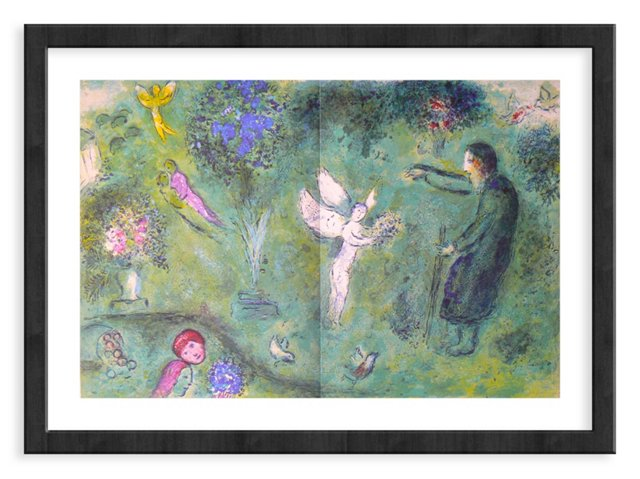Chagall, Mourlot 326, Philelas Orchard